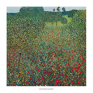 Gustav Klimt Campo di papaveri