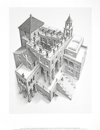 MC Escher Trepp auf, Trepp ab