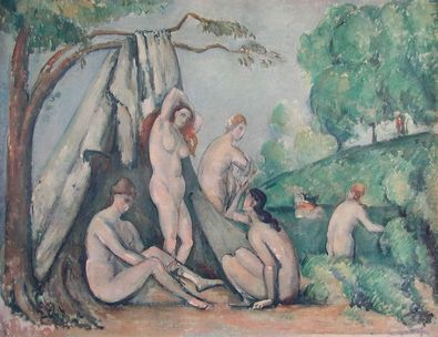 Paul Cezanne Frauen vor dem Zelt