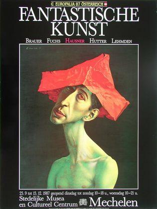 Rudolf Hausner Adam mit rotem Hut