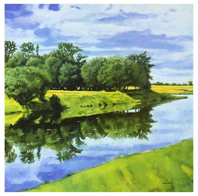 Juergen Winkler 2er Set 'Water Reflections' + 'Secret River'