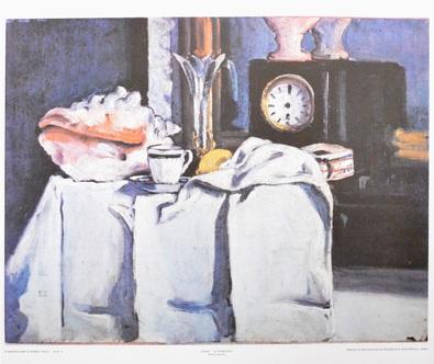 Paul Cezanne La pendule noire