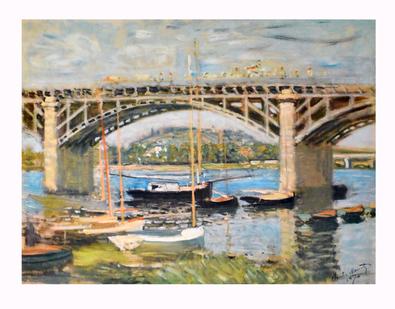 Claude Monet Seinebruecke von Argenteuil