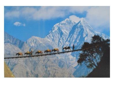 Franck Guiziou Haengende Bruecke ueber Kali Gandaki, Nepal