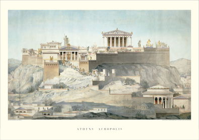 unbekannter Kuenstler Akropolis in Athen