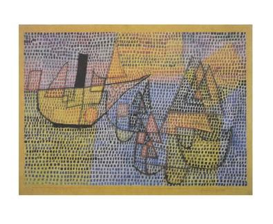Paul Klee Dampfer und Segelboote