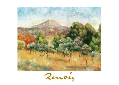 Pierre Auguste Renoir Der Berg Sainte-Victore