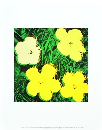 Andy Warhol Flowers (Yellow)
