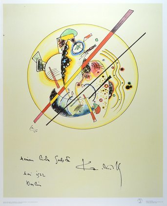 Wassily Kandinsky Aquarell aus dem Gaestebuch Galston