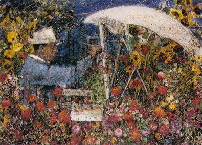 Emil Scheibe Der Maler Arnold Balwe in seinem Garten