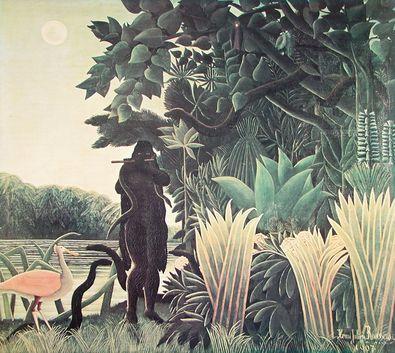 Henri Rousseau Der Schlangenbeschwoerer