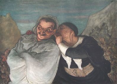 Honore Daumier Crispin und Scapin