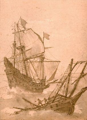 Claude Lorrain Schiffe im Sturm