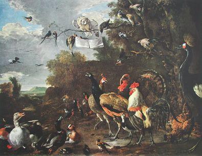 Melchior de Hondecoeter Das Vogelkonzert