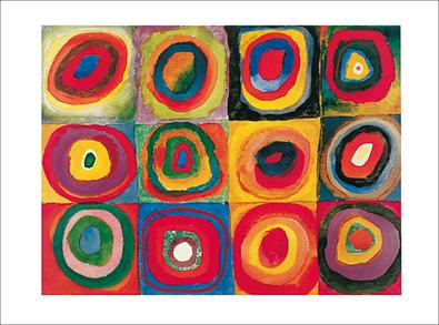 Wassily Kandinsky Farbstudie, Quadrate