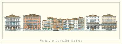 unbekannter Kuenstler Venedig, Canal Grande, San Luca