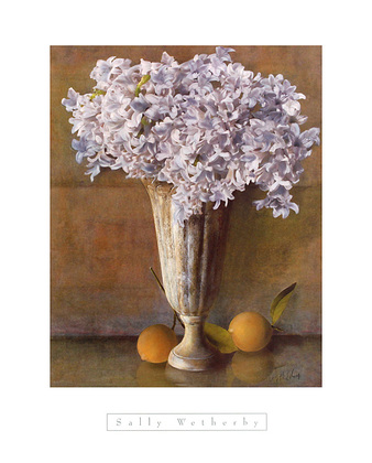 Sally Wetherby 2er Set 'Hyacinths' + 'Hydrangeas with Apples'