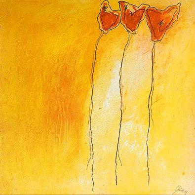 Claudia Doucet 2er Set 'Trios Tulipes I-II'