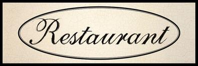 Nicht bekannt 3er Set 'Restaurant Sketch' + 'Bistro Sketch' + 'Menu Sketch'