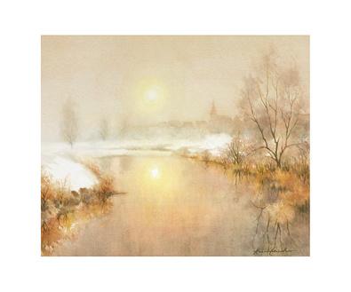 Kurt Ettischer Dorf im Winter