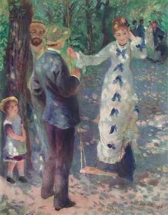 Pierre Auguste Renoir Dame auf der Schaukel