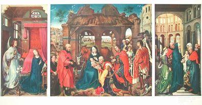 Rogier van der Weyden Anbetung der Heiligen Drei Koenige  um 1460
