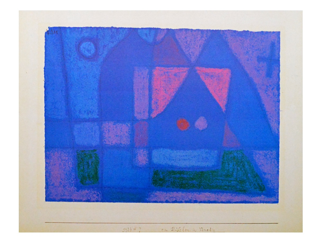 paul klee ein st bchen in venedig poster kunstdruck bild 60x80cm ebay. Black Bedroom Furniture Sets. Home Design Ideas