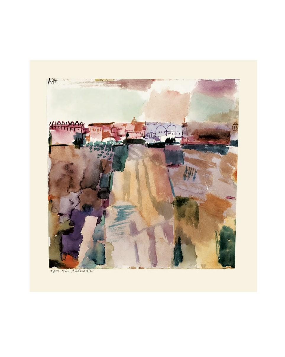Paul Klee Kairuan Poster Kunstdruck Bild 34x42cm limitiert Tunisreise