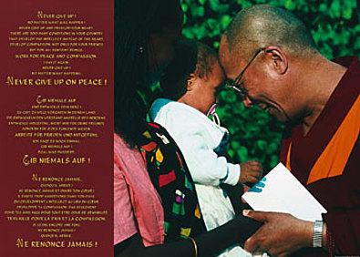 Johannes Frischknecht Dalai Lama with Child