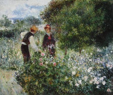 Pierre Auguste Renoir Beim Blumenpfluecken  1875