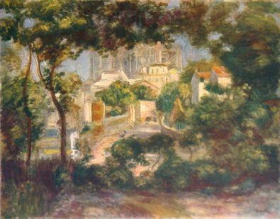 Pierre Auguste Renoir Blick auf Montmartre