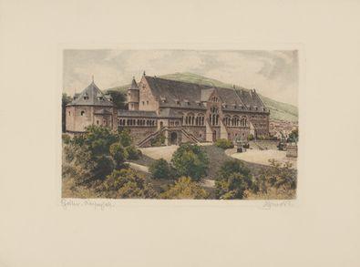 Bruck Goslar, Kaiserpfalz (coloriert)