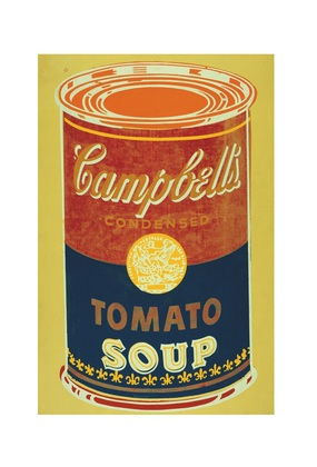 Andy Warhol Colored Campbell's Soup Can 1965 yellow & blue