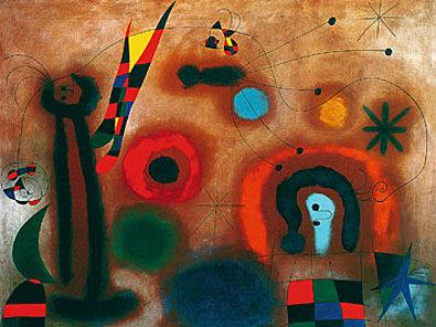Joan Miro Libelle mit roten Fluegeln