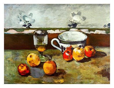 Paul Cezanne Still Life with Apples, Cup and Glass