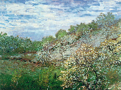 Claude Monet Baeume in Bluete