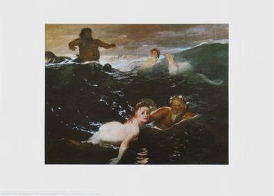 Arnold Boecklin Im Spiel der Wellen