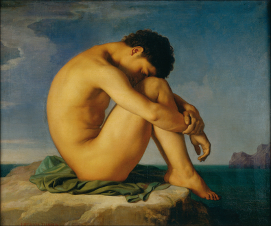Hippolyte Flandrin Jeune homme nu assis, 1855