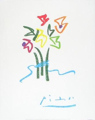 Pablo Picasso Abendblumen
