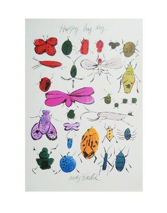 andy warhol happy bug day poster kunstdruck bei. Black Bedroom Furniture Sets. Home Design Ideas