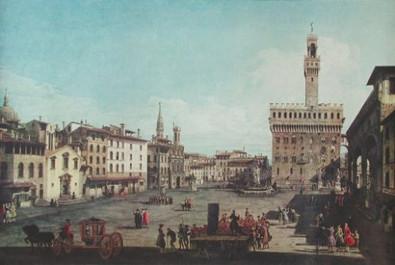 Bernardo Bellotto Florenz Piazza della Signoria
