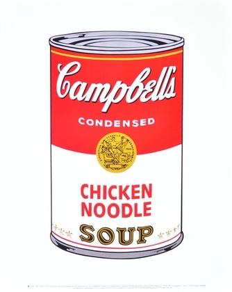 Andy Warhol Campbells Soup Chicken Noodel