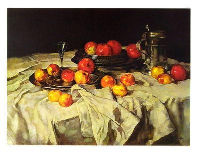 Charles Schuch Apfelstilleben mit Zinnkrug (klein)