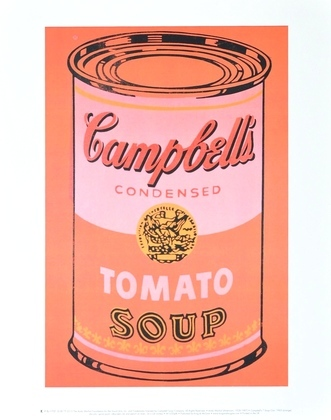 Andy Warhol Campbells Soup Can (orange)