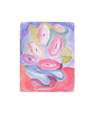 Alexej von Jawlensky Abstrakte Blumen in Rosa und Gruen