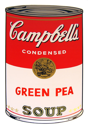 Andy Warhol Campbells Soup - Green Pea