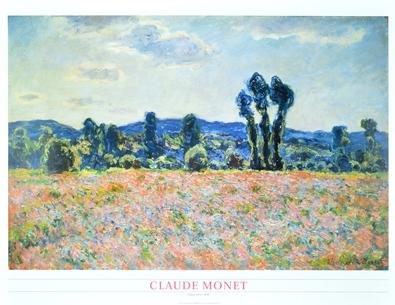 Claude Monet Poppyfield 1898