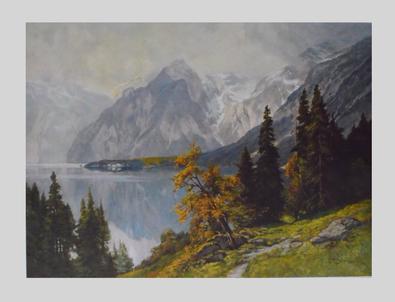 Edward T. Compton Der Koenigssee, vom Weg zur Gotzenalm
