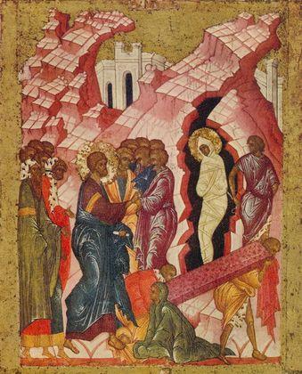 Ikone Russisch Auferweckung des Lazarus II