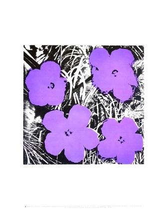 Andy Warhol Flowers (Purple)